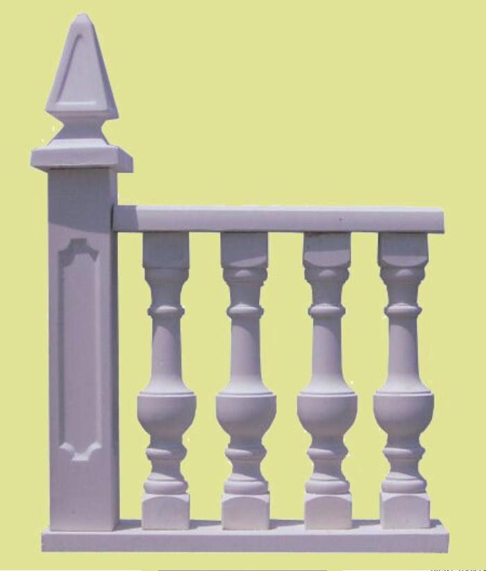 Balaustradas y balaustres hormig n imitaci n madera y for Barandillas de madera para jardin