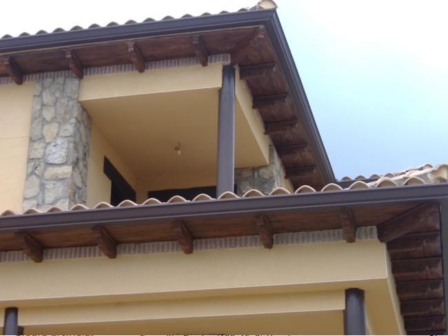 Canecillos y placas hormig n imitaci n madera - Imitacion madera para fachadas ...