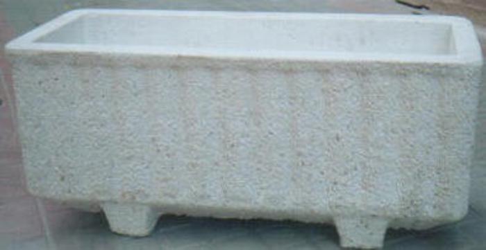 jardineras o maceteros en piedra artificial y hormign imitacin madera linares tel