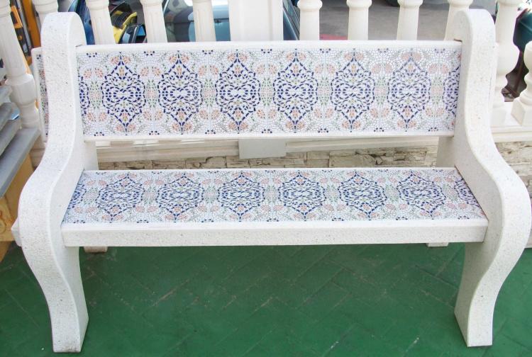 Mesas y bancos para jardines prefabricados piedra for Bancos de jardin rusticos