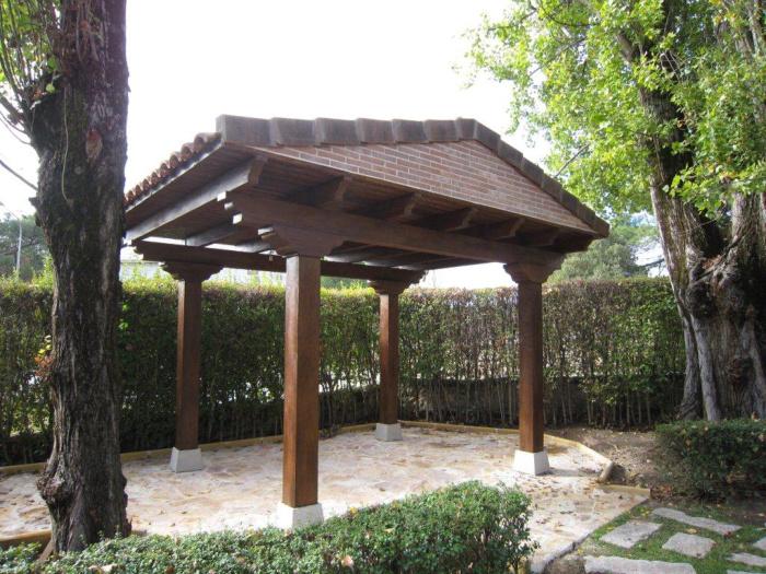 P rgolas porches cenadores prefabricados hormig n - Prefabricados de madera ...