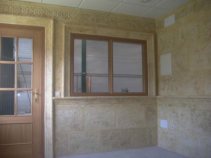 Revestimientos fachadas y paredes decoraci n piedra - Pared de piedra artificial ...