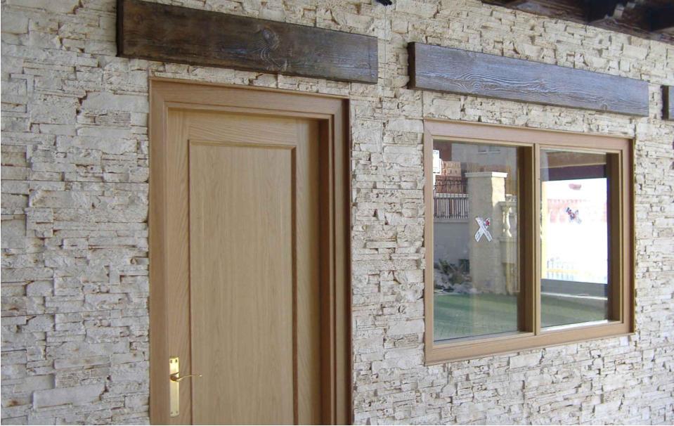 Revestimientos fachadas y paredes decoraci n piedra - Imitacion madera para fachadas ...