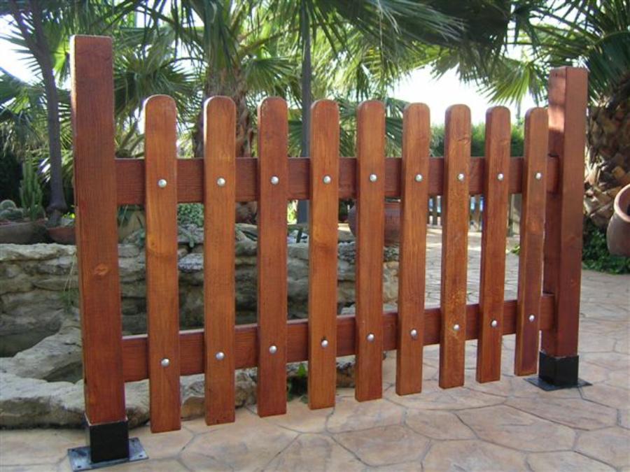 Valla jard n hormig n imitaci n madera prefabricados - Vallas jardin pvc ...