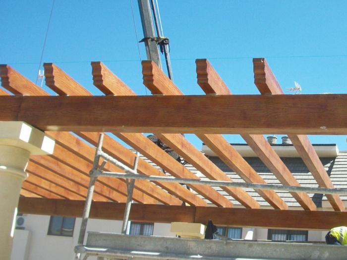 Prefabricados vigas viguetas pilares cargaderos hormig n - Imitacion madera para fachadas ...